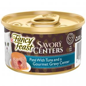 Fancy Feast  Savory Centers Pate With Tuna And A Gourmet Gravy Center 85g 85g