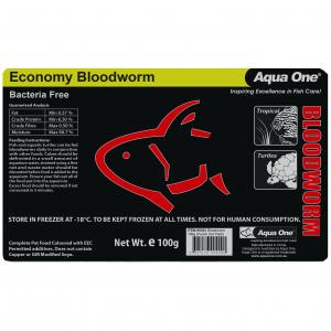 Aqua One Ao Bloodworm 100g (punch Out Pack)