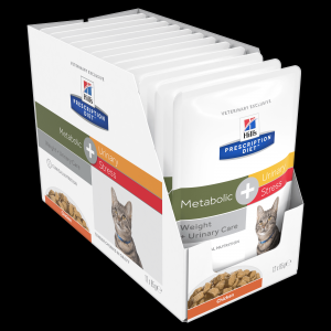 Hill's VET Hill's Prescription Diet Metabolic + Urinary Stress Cat Food Pouches 85g