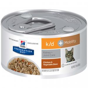 Hill's VET Hill's Prescription Diet K/d Kidney Care + Mobility Chicken And Vegetable Stew Canned Cat Food 82g