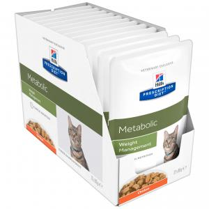 Hill's VET Hill's Prescription Diet Metabolic Weight Management Cat Food Pouches 85g