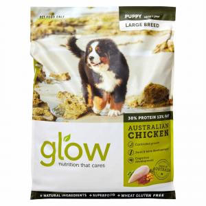 GLOW  Large Breed Puppy Australian Chicken Dry Dog Food 10kg