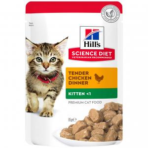 Hill's Science Diet  Kitten Chicken Cat Food Pouches 85g