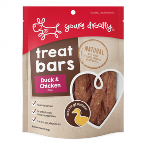 Yours Droolly  Duck & Chicken Bites Dog Treats 100g
