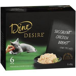 Dine Desire - Succulent Chicken Breast - Canned Cat Food 6X85GM
