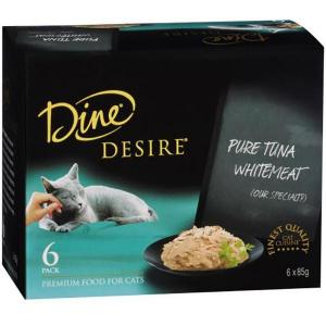 Dine Desire - Pure Tuna Whitemeat - Canned Cat Food 6X85GM