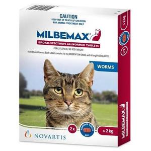 Milbemax Cat 2kg and above - 2 Pack