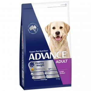 Advance  Weight Control Large Breed Adult Chicken Dry Dog Food 13kg