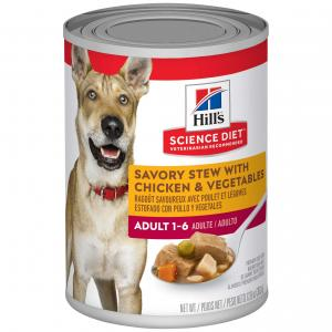 Hill's Science Diet  Savory Stew Adult Chicken & Vegetable Wet Dog Food 363g