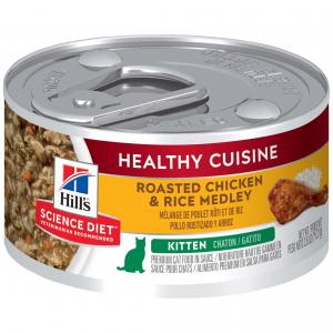 Hill's Science Diet Healthy Cuisine Kitten Chicken & Rice Medley Wet Cat Food 79G