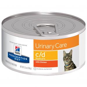 Hill's Prescription Diet C/D Multicare Urinary Care Chicken Wet Cat Food 156G