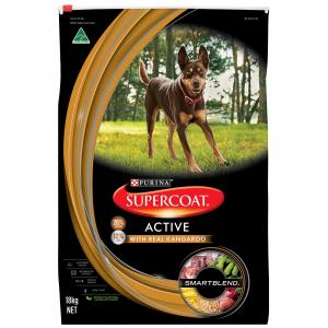 Supercoat Smartblend Active Adult Kangaroo Dry Dog Food