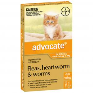 Advocate Flea And Worm Treatment For Cats <4kg 1 pack