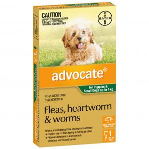 Advocate  For Dogs <4kg - Green 1 pack