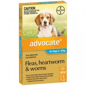 Advocate Flea And Worm Treatment For Dogs 4kg - 10kg 1 pack