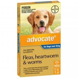 Advocate Flea And Worm Treatment For Dogs 25kg+ 1 pack