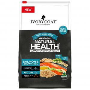 Ivory Coat Mature Adult Salmon & Brown Rice Dry Dog Food