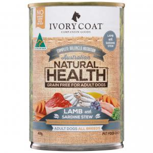Ivory Coat Grain Free Adult Lamb & Sardine Wet Dog Food 400G