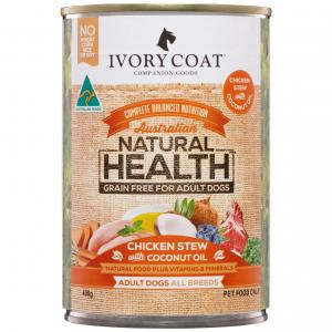 IVORY COAT  Grain Free Adult Chicken & Coconut Oil Wet Dog Food 400g