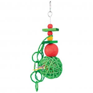 Kazoo  Christmas Wicker Balls With Rings Bird Toy