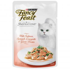 Fancy Feast Inspirations Salmon, Spinach & Beans Wet Cat Food 70G