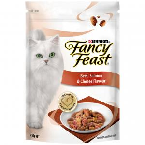Fancy Feast Adult Beef, Salmon &  Cheese Dry Cat Food 450G