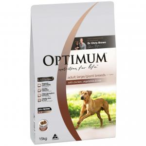 Optimum Large Breed Adult Chicken Dry Dog Food 15kg