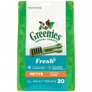 Greenies  Freshmint Petite Dental Chews Dog Treats 340g