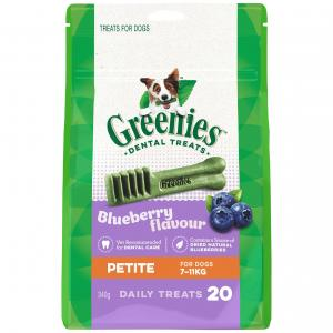 Greenies  Blueberry Petite Dental Chews Dog Treats 340g