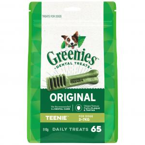 Greenies  Teenie Dental Chews For Extra Small Dogs Mega Treat Pack (510g)