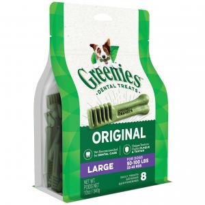 Greenies  Large Breed Dental Care Dog Treats Pack 340g