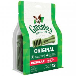 Greenies Regular - Dental Chews For Medium Dogs Treat Pack (340gm)