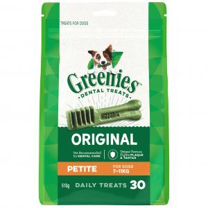 Greenies Petite - Dental Chews For Small Dogs Mega Treat Pack (510g)