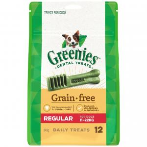 Greenies  Grain Free Regular Dental Dog Treats Pack 340g