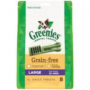 Greenies Grain Free Large Dental Dog Treats Pack 340G