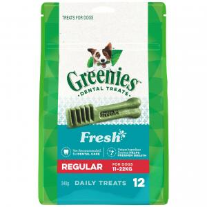 Greenies Freshmint Regular Dental Chews Dog Treats 340G
