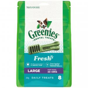 Greenies  Freshmint Large Dental Chews Dog Treats 340g