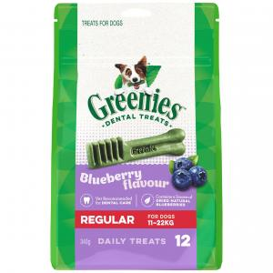 Greenies  Blueberry Regular Dental Chews Dog Treats 340g