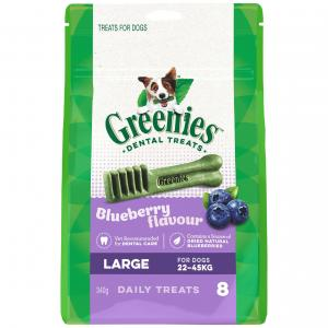 Greenies  Blueberry Large Dental Chews Dog Treats 340g