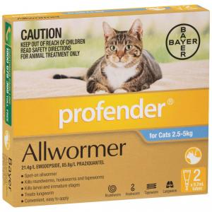 Profender Topical Allwormer 2.5-5kg Cat