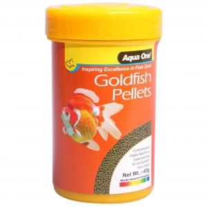 Aqua One  Goldfish Pellet Food 1mm 45g