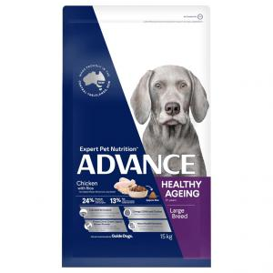 Advance  Mature Large Plus Adult Chicken Dry Dog Food 15kg