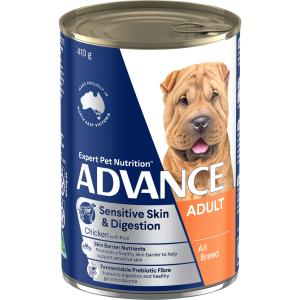 Advance Sensitive Adult All Breed - Chicken And Rice - Canned Dog Food 410g
