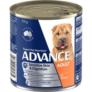 Advance Sensitive Adult All Breed - Chicken And Rice - Canned Dog Food 700g