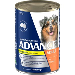 Advance Adult All Breed - Casserole With Chicken - Canned Dog Food 410g
