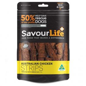 Savourlife Australian Chicken Strips Dog Treats 165G