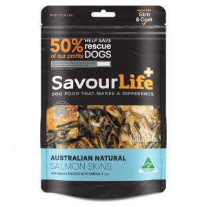 Savourlife Australian Natural Salmon Skins Dog Treats 125G
