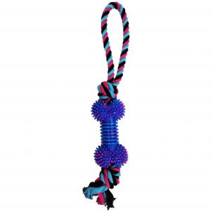 Bark-a-boo  Totally Pawsome Tiedye Tpr Bone Ropetug