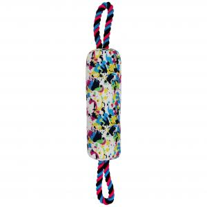 Bark-a-boo  Totally Pawsome Splatter Paint Tug Toy Barrel