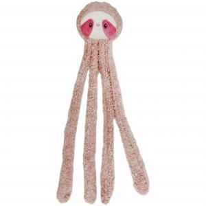 Bark-a-boo  Extra Long Legs Pink Sloth Dog Toy